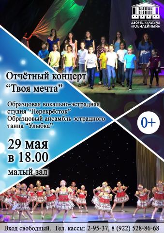 """*Отчётный концерт """"ТВОЯ МЕЧТА"""""""